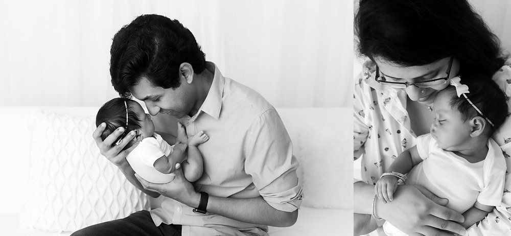 st-louis-newborn-family-photographer-collage-of baby-girl-with-dad-and-mom-in-black-and-white.jpg
