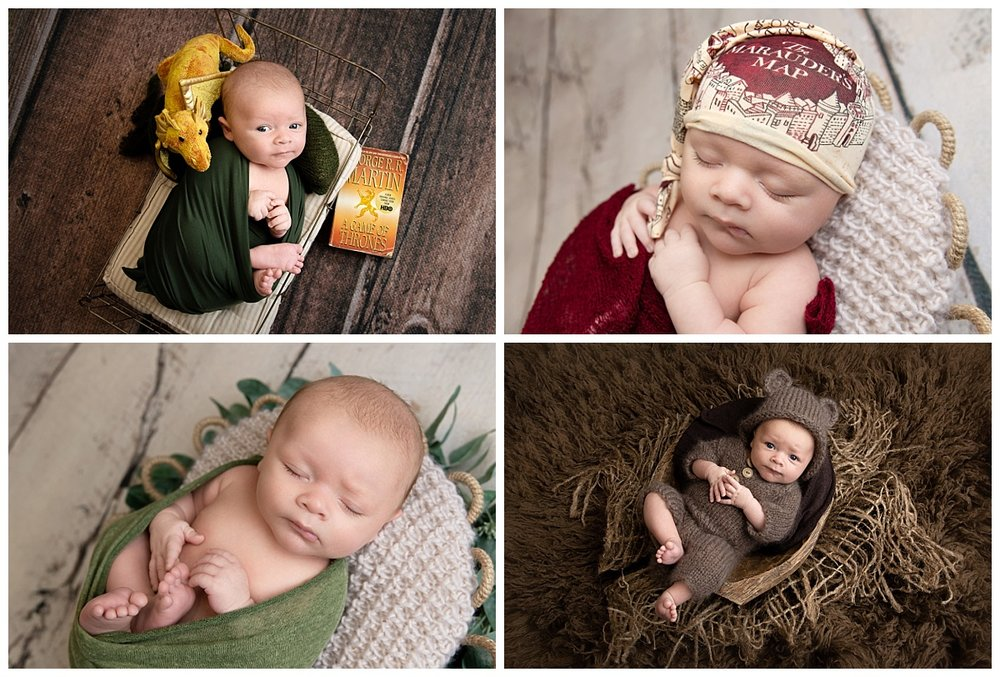 st-louis-newborn-photographer-baby-boy-collage-with-game-of-thrones-harry-potter-and-bear-outfit-images.jpg