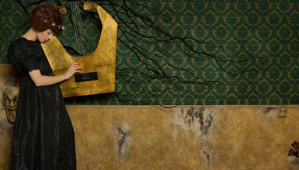 "Music <em>, 2010 <p>after ""Music I"", Gustav Klimt, 1895</em>"