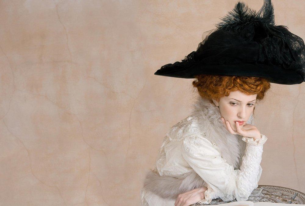 """The Black Hat <em>, 2010 <p>after """"The Black Feather Hat"""", Gustav Klimt, 1910</em>"""