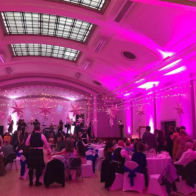 Dreamy pink background for the evening's entertainment 💕 . . #lightingmatters #weddingvenue #edinburghweddingvenue #leith #leiththeatre #thomasmortonhall