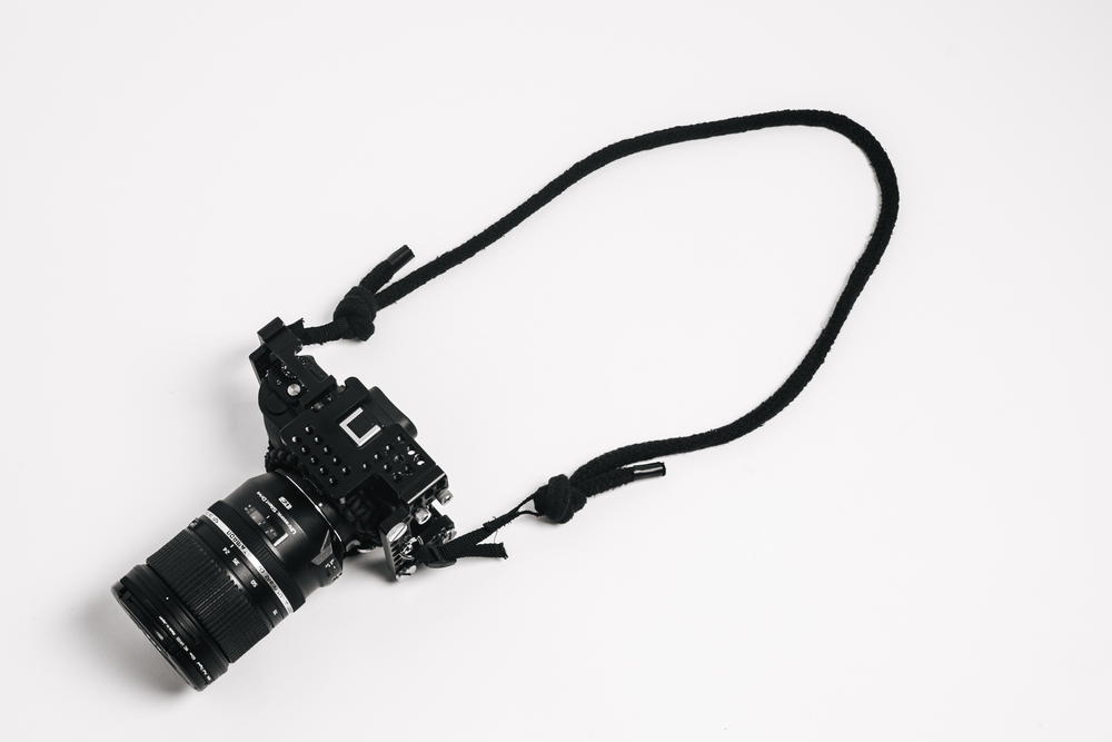 CAM01_ Waxed Cotton Rope Camera Strap. Further material refinement needed.