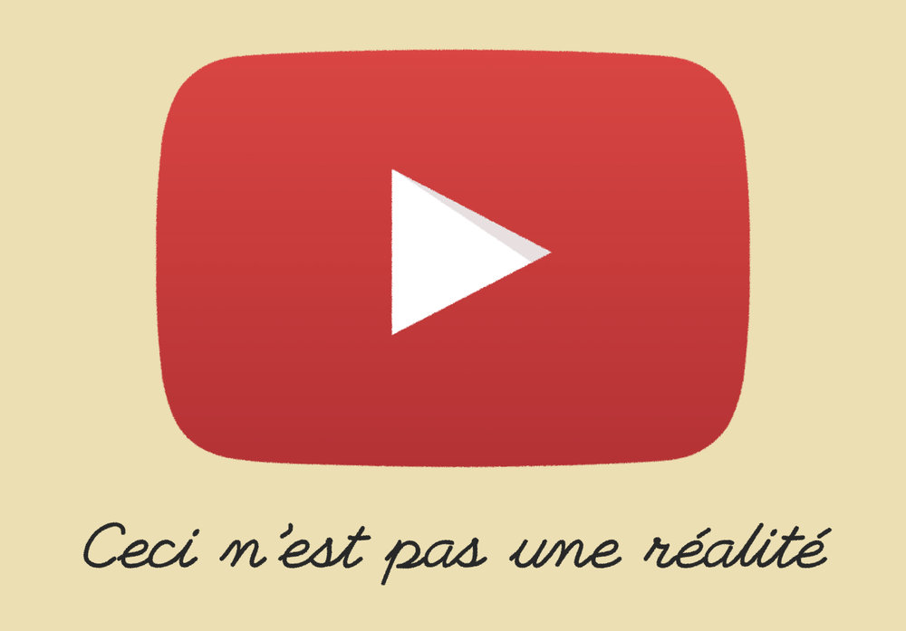"Updating  ""La Trahison des images""  by Magritte for the YouTube age"