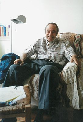 Eugene Gendlin in seinem Arbeits-Apartment in New York 1997 Foto: Astrid Schillings