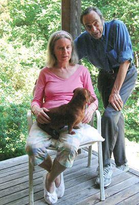 """Eugene Gendlin mit seiner Frau Mary Hendricks-Gendlin Phd und """"Kaiji"""" Foto:Astrid Schillings"""