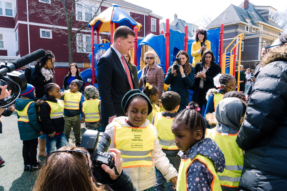 Mayor Marty Walsh engaging with the youngest audience after his press conference (21 of 1).JPG
