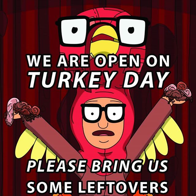 11am to 9pm. Not because we have to be,  but because we want to be.  Happy Thanksgiving!  #austintx #atx #thanksgiving #danksgiving #smokingdepot #turkeyday #bringusfood