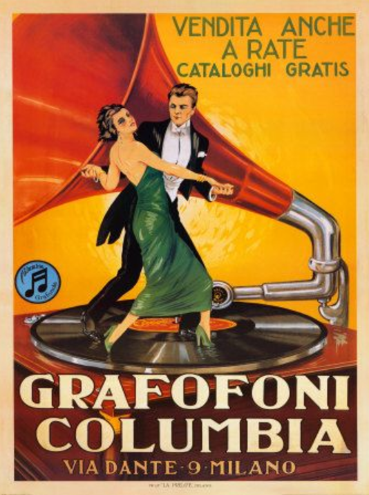 "Here's a poster for the Columbia ""Grafofoni"" - looks sexier than 'elocution,' doesn't it?"
