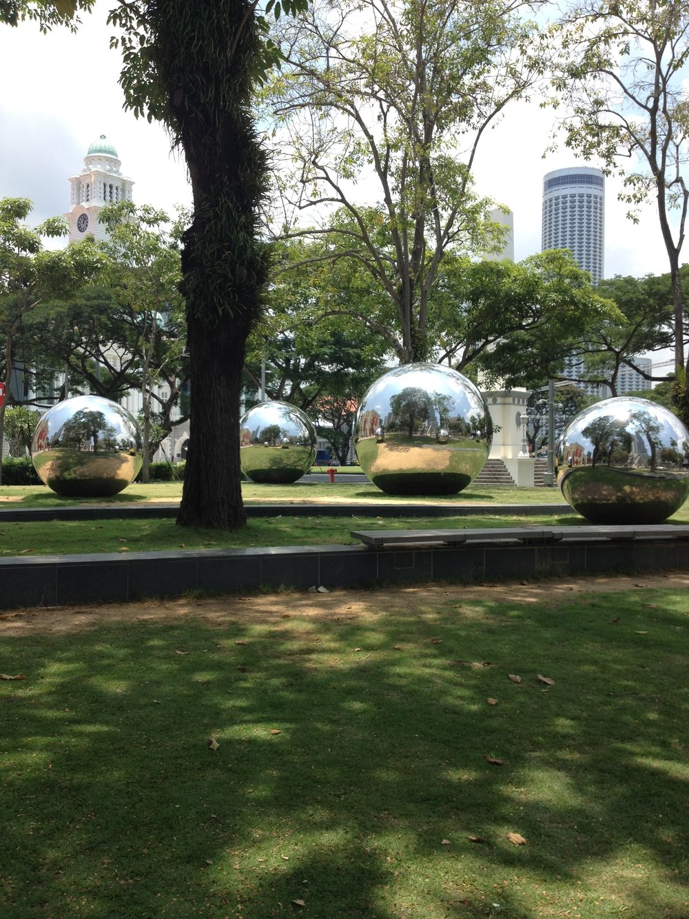 Giant Silver Balls on the Esplanade Singapore City