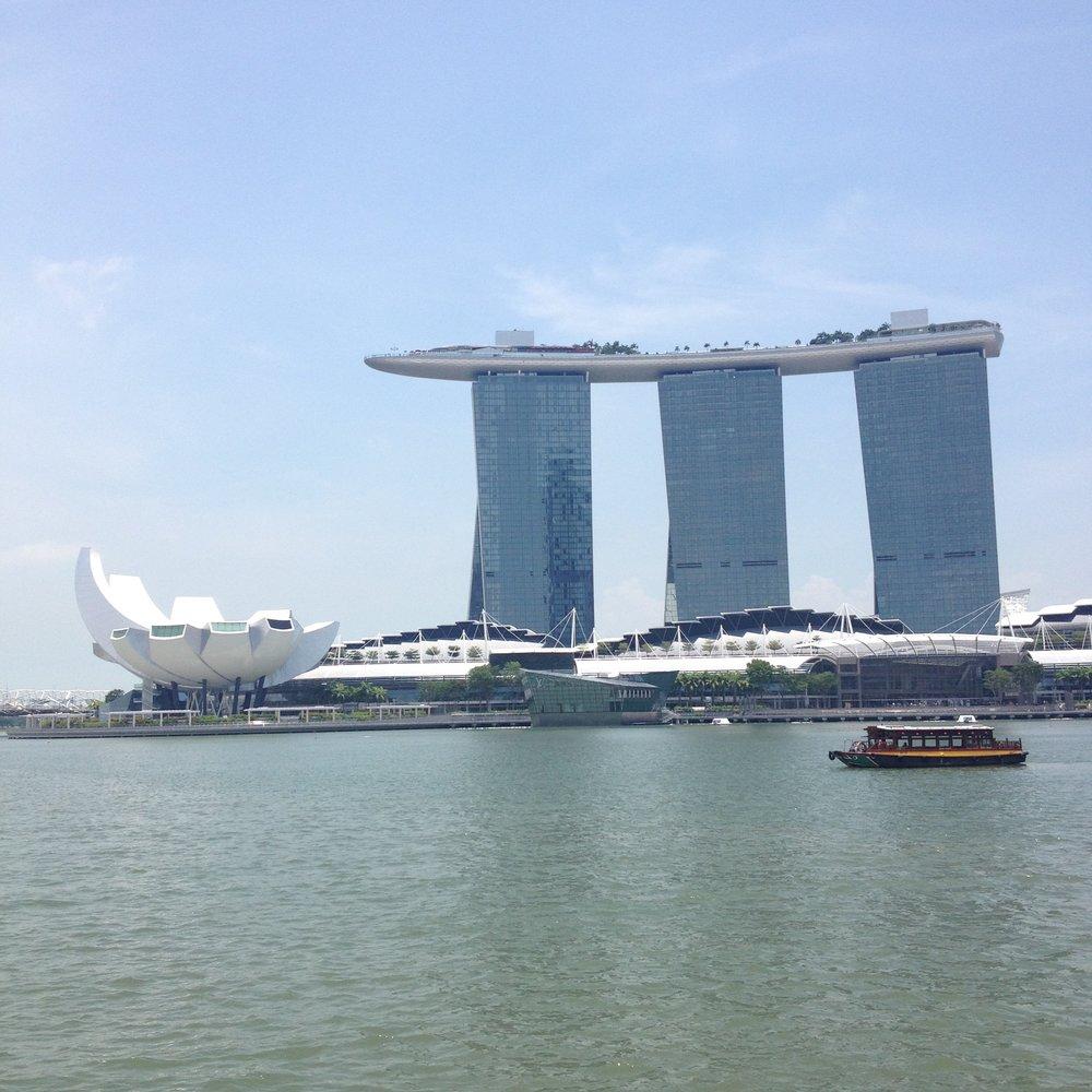 ArtScience Museum and Marina Bay Sands Hotel Singapore