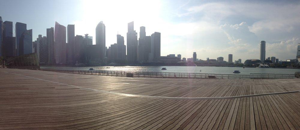 Singapore Boardwalk Marina Bay Sands