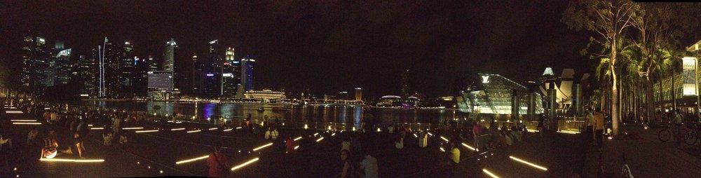 Singapore city Marina Bay Sands waterfront