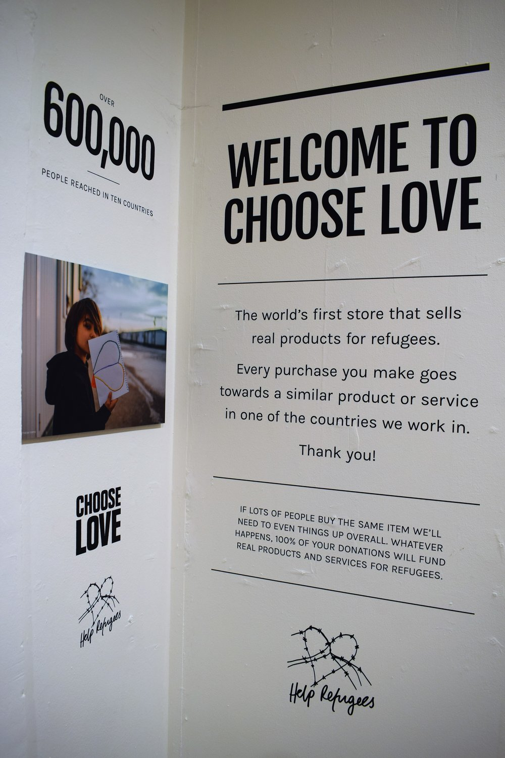 Choose Love Help Refugees UK 18 Broadwick Street Soho London
