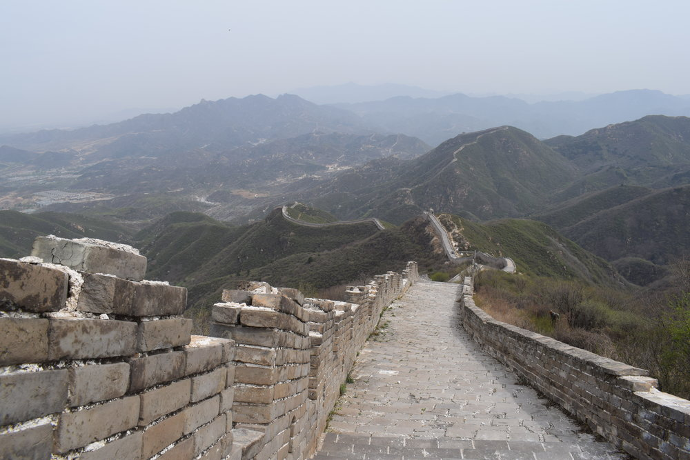 The Great Wall of China no crowds