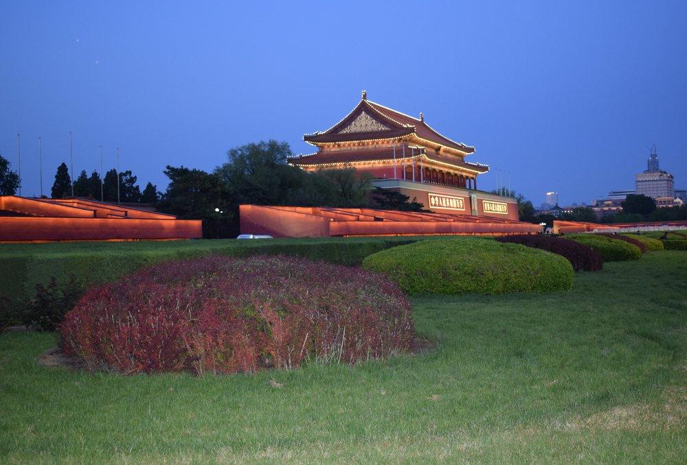 Tiananmen Square Beijing at night