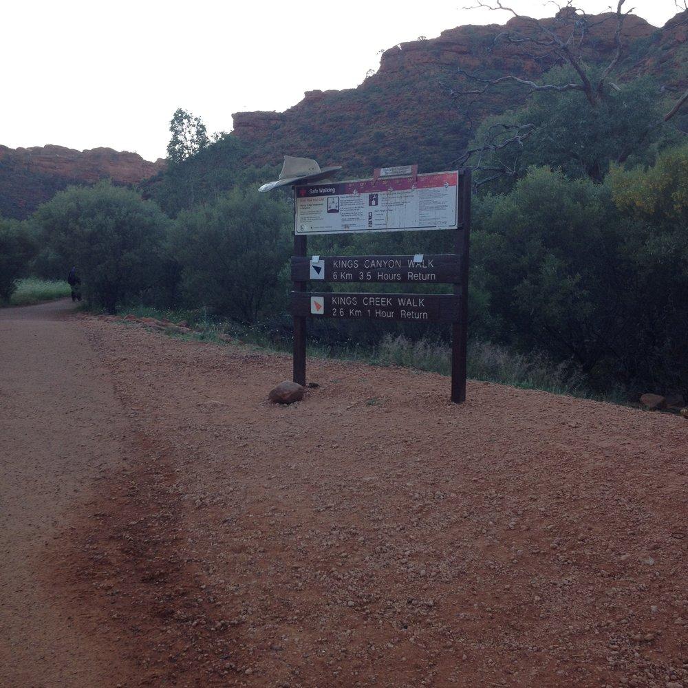 Kings Canyon Watarrka signs