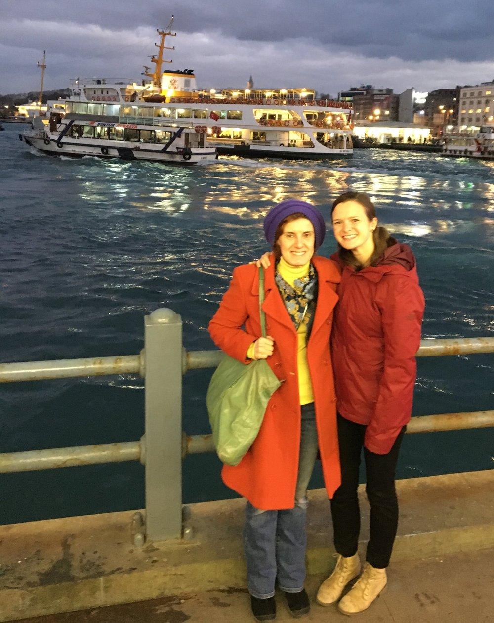 ASPIRE's Filiz Katibe Şaşaoğluand Melissa Meinhart during their visit to Istanbul in January 2018.