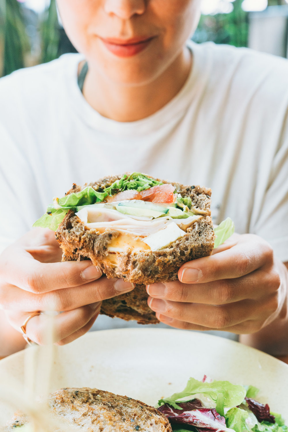 sandwiches and smiles at belmondo