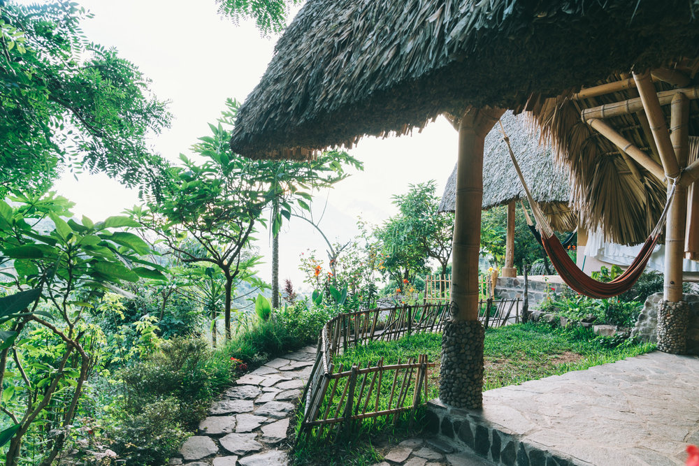 The yoga Forest Accommodations with view of Lake Atitlan