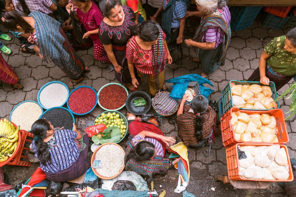 sunday market in Santiago at lake atitlan