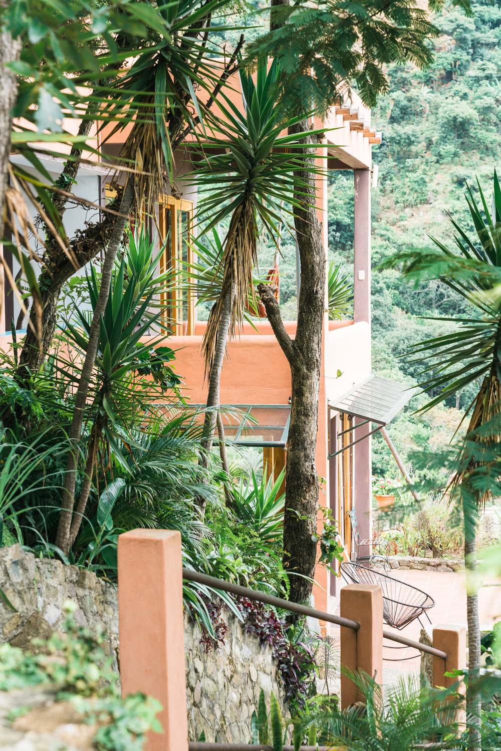 Side view of Eagles Nest Airbnb in Jaibalito at lake atitlan