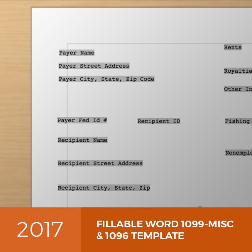 2017 1099 misc 1096 template 1099misctemplate falaconquin