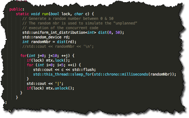 C++ Mutex Example