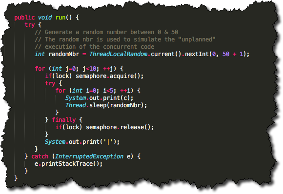 "Java ""Mutex"" Example"