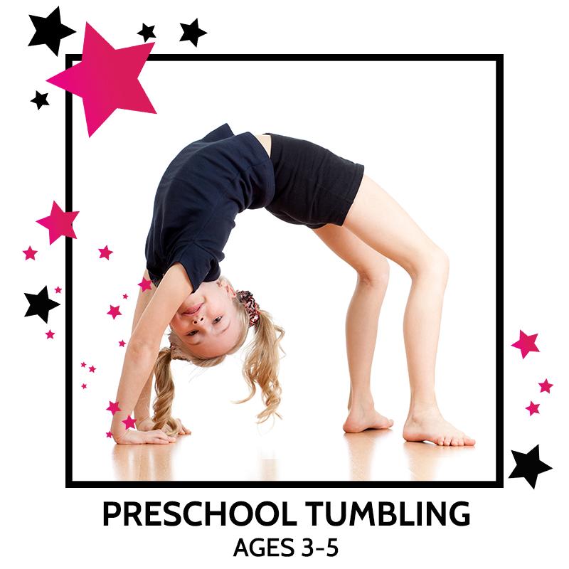 PRESCHOOL TUMBLING, GYMNASTICS LESSONS, ACROBATIC, DANCE CLASSES
