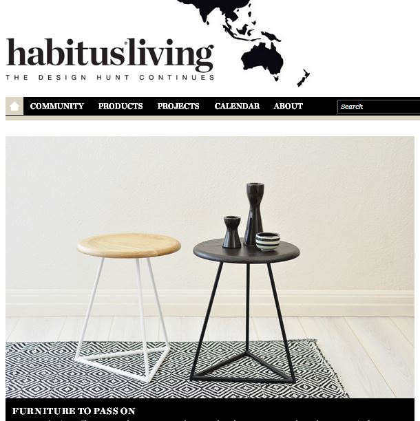 "26th June 2014 - Habitus Living. ""Furniture to pass on"" - Read it  here"