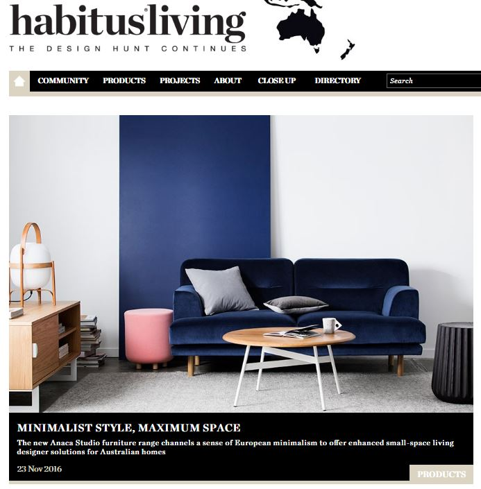 23rd Nov 2016 - Habitus Living - link here