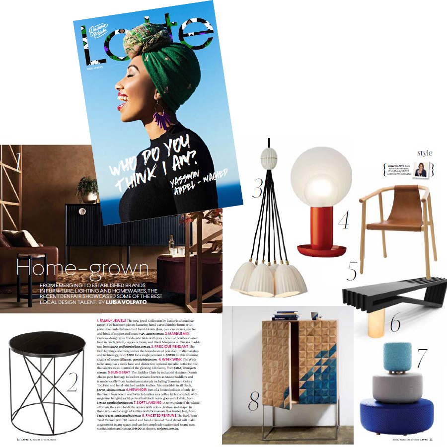 Aug 2016 - Latte Magazine by Business Chicks - Featuring Coco ottoman's stack
