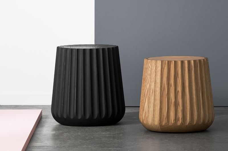 Emi pods - Made of solid Red oak, EMI has a beautiful fluted profile, not just a decorative element to their beautiful simple shape but a stunning visual and tactile appeal.