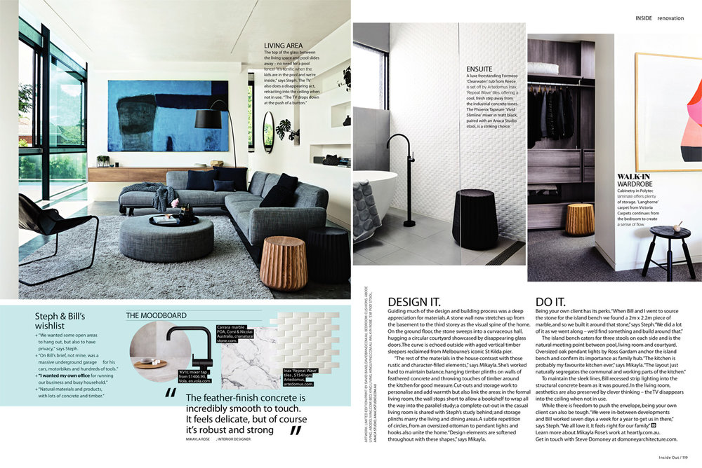 Inside Out - Nov 2017 issue - Dream it! - Featuring our Emi pods - view the full story here