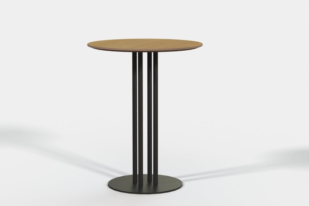 Paris Cafe Table 600 dia Ply top - Oak veneer