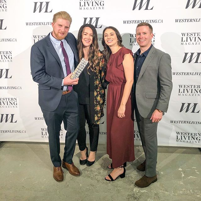 About last night... ✨ // Thank you @westernliving for hosting an amazing party! 🎉 We are so thankful to be the 2018 Western Living Furniture Designers of the Year ❤️. Congratulations to the other winners @hodgsondesignassociates @andrearodmaninteriors @kalikabowlby @truvellebridal @battersbyhowat @kojubilo @mcleodbovell #gatessuterarchitects ===== An extra special thanks to my husband Cole and Bram's fiancé Adrienne. They support us in all of our design adventures and it means so much to have them there through thick and thin 😘😘 ===== #wldoty #westernliving #holyshitwewon #furniture #furnituredesign #industrialdesign #designermaker #interiordesign #canadiandesigner #vancouverdesign #vancouver #vancouverevents