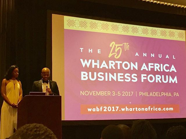 Our esteemed co-chairs, Amaka Uzoh and Abdul-Hakeem Buhari, kicking off the #WABF25 gala
