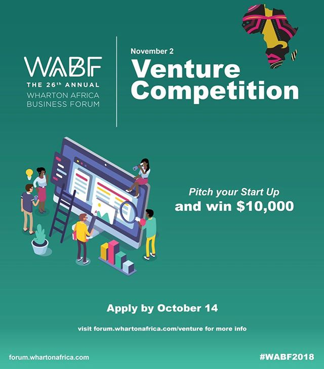 Calling all entrepreneurs working on an initiative that aims to solve a problem or provide a positive social/economic impact on the African continent! Need additional funding and a network to take your business to the next level? Then apply at the link below for the opportunity to pitch your startup at the 26th annual Wharton Africa Business Forum in November and win a $10,000 grand prize! DM me with any inquiries. https://forum.whartonafrica.com/venture/ #wabf26 #africa #innovation #venture #pitchcompetition #wharton #socialimpact