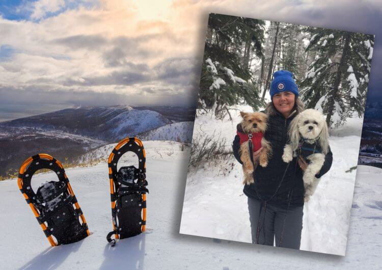 snowshoeing with Bluestar Coachlines
