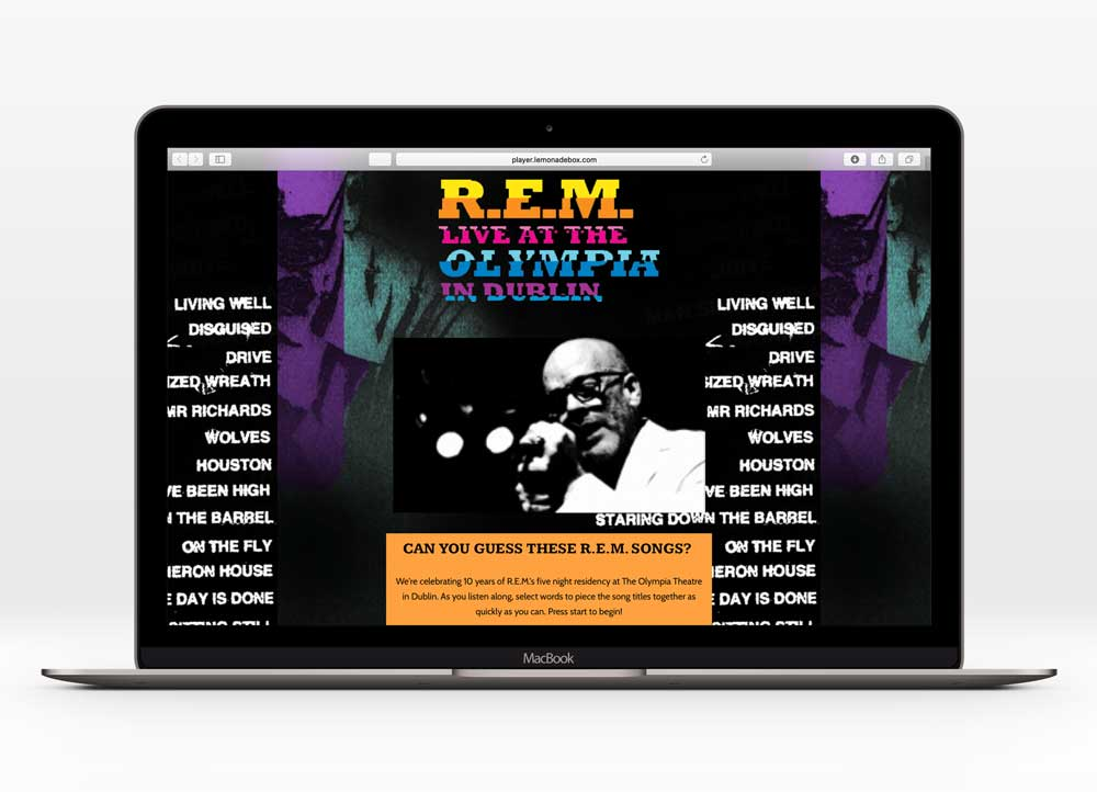 R.E.M. - UX Design | 1000+ unique users | In collaboration with UMe