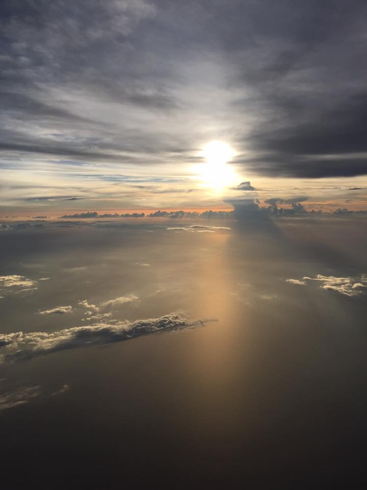 as if I needed any more proof that God was fully present - this was the view on our flight home to CLT.