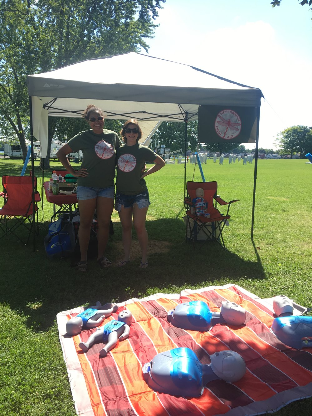 Patricia and Celene attending Peterborough Pulse on Saturday, July 15, 2017. Lots of family fun was had through our hands on CPR and choking skills practice and water smart activities. Thank you to everyone who came by to our booth to say hello!