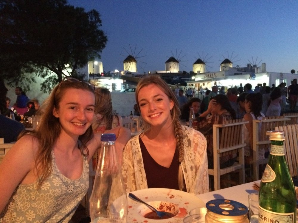 My Girls at sunset, Mykonos