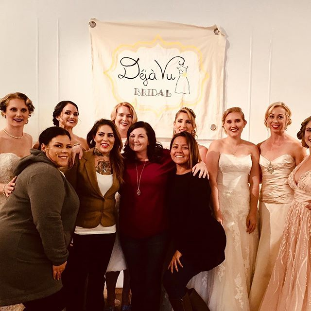 GAWgeous! The Decorated Bride provided hair+makeup for Deja Vu's Wedding Faire Fashion Show.  Makeup by Richelle@thedecoratedbride Hair by Danelle@thedecoratedbride and Tish@thedecoratedbride #TDBrocksbeauty