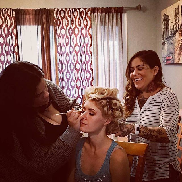 It's what they do...Beauty! #hairbydanelle #makeupbyrichelle  #laketahoe2017