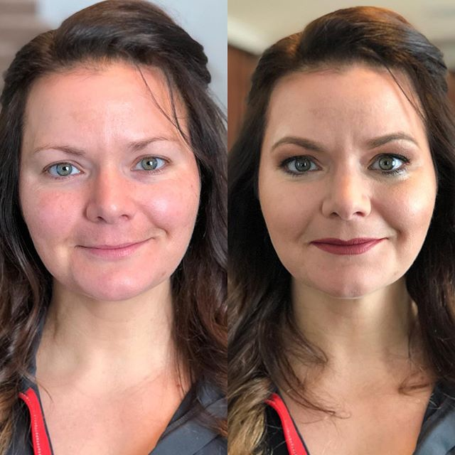 Before / After by Richelle for The Decorated Bride #tdbrocksbeauty  #renoweddings2017  #muarichelle #beforeandaftermakeup