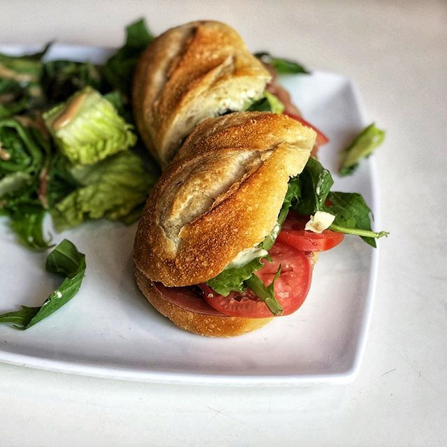 When your eating fast food for lunch remember you could be enjoying one of our delicious baguette sandwiches! This is the Prosciutto, one of our favorite choices for lunch! #baguettecafelv #frenchcafe #lunchtime #lasvegas #vegasfoodie
