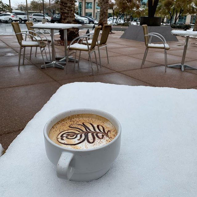 Are you going to have your Toasted Almond Mocha inside or on the patio?