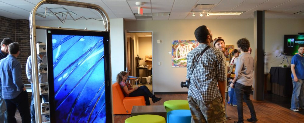 The Cool Office - Nothing screams creative innovative work spaces like big geeky Tech themed art