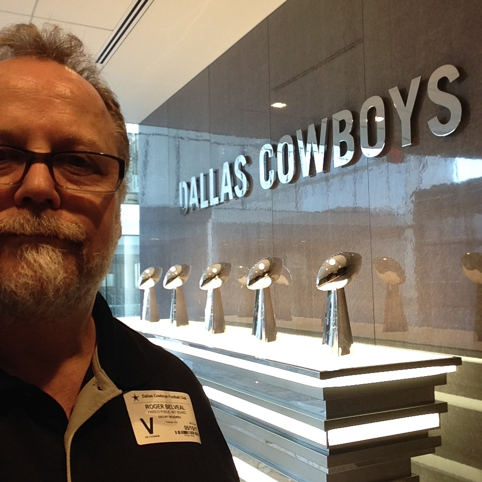 On a private tour of the Dallas Cowboys Headquarters with the Frisco Public Art board. Our guide was the City manager who coordinated with Jerry Jones and the Cowboys franchise to land this spectacular facility in Frisco.
